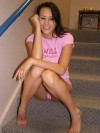Lucia Poses In A Tight Pink Top - Picture 13