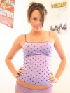Slinky Tight Top On Brunette Teen Poser - Picture 2