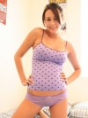 Slinky Tight Top On Brunette Teen Poser - Picture 3